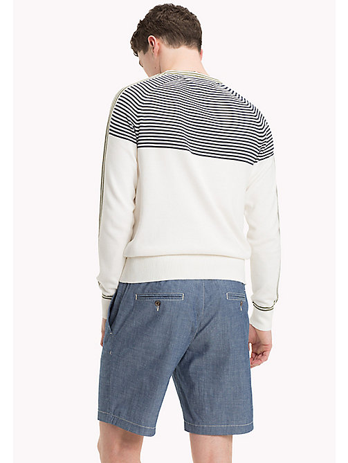 TOMMY HILFIGER Striped Cotton Jumper - SNOW WHITE - TOMMY HILFIGER New arrivals - detail image 1