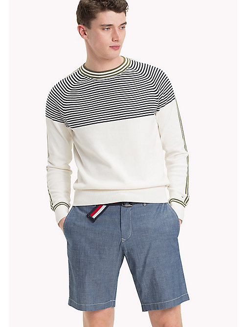 TOMMY HILFIGER Striped Cotton Jumper - SNOW WHITE - TOMMY HILFIGER New arrivals - main image