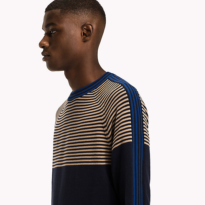 TOMMY HILFIGER Striped Cotton Jumper - SNOW WHITE - TOMMY HILFIGER Men - detail image 2