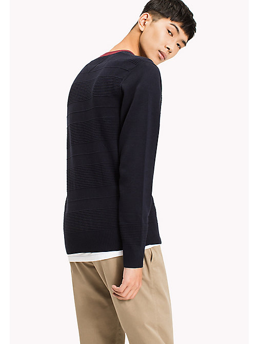 TOMMY HILFIGER Structured Crew Neck Jumper - SKY CAPTAIN - TOMMY HILFIGER Pullover - main image 1