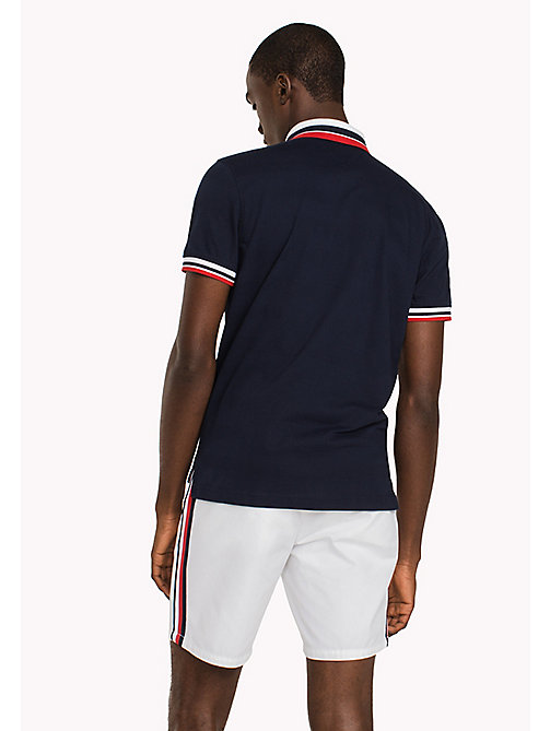 TOMMY HILFIGER Patch Polo Shirt - NAVY BLAZER - TOMMY HILFIGER Polo Shirts - detail image 1