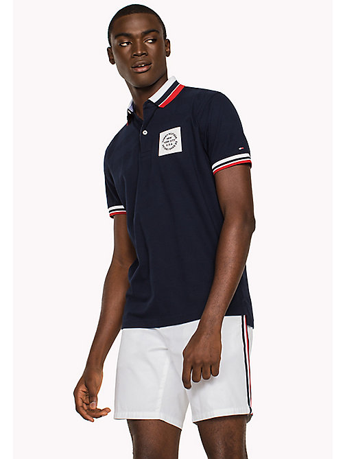 TOMMY HILFIGER Patch Polo Shirt - NAVY BLAZER - TOMMY HILFIGER Polo Shirts - main image