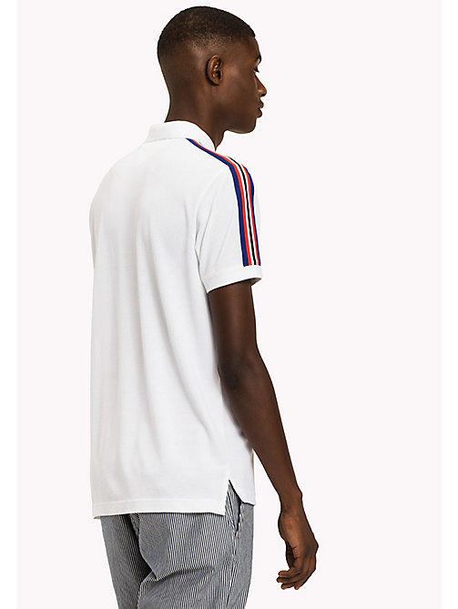 TOMMY HILFIGER Stripe Regular Fit Polo - BRIGHT WHITE - TOMMY HILFIGER Polo Shirts - detail image 1