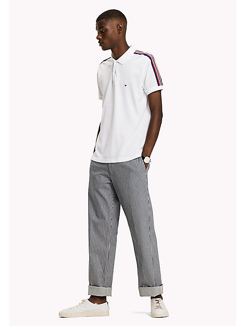 TOMMY HILFIGER Stripe Regular Fit Polo - BRIGHT WHITE - TOMMY HILFIGER Poloshirts - main image