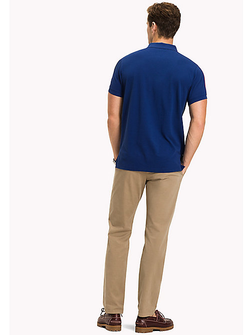 TOMMY HILFIGER Stripe Regular Fit Polo - SODALITE BLUE - TOMMY HILFIGER Polo Shirts - detail image 1