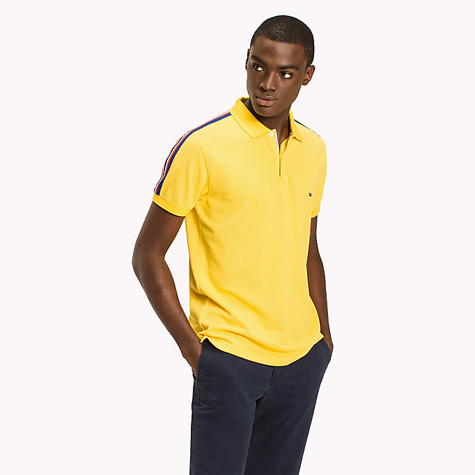 TOMMY HILFIGER Polo regular fit a righe - BRIGHT WHITE - TOMMY HILFIGER Uomini - immagine principale