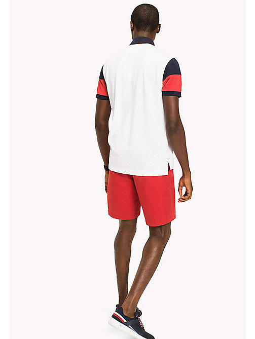 TOMMY HILFIGER Colour-Blocked Polo Shirt - BRIGHT WHITE / MULTI - TOMMY HILFIGER Polo Shirts - detail image 1