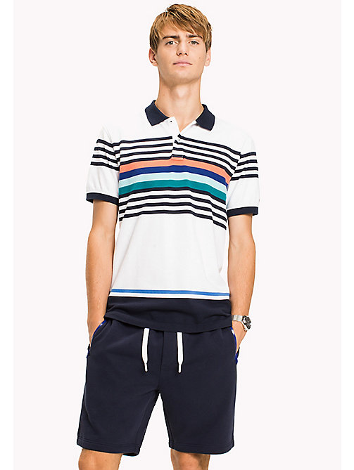 TOMMY HILFIGER Stripe Polo Shirt - BRIGHT WHITE MULTI - TOMMY HILFIGER Clothing - main image