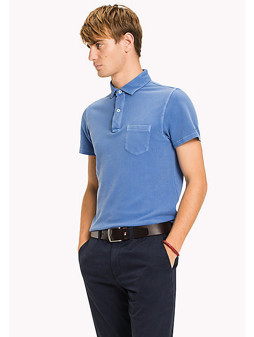 TOMMY HILFIGER Slim fit polo met logokraag - REGATTA - TOMMY HILFIGER T-Shirts & Polo's - main image