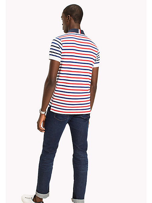 TOMMY HILFIGER Breton Stripe Slim Fit Polo - BRIGHT WHITE / MULTI - TOMMY HILFIGER Polo Shirts - detail image 1