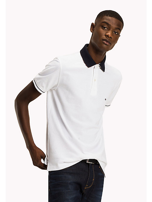 TOMMY HILFIGER 1985 Classic Regular Fit Polo - BRIGHT WHITE - TOMMY HILFIGER Polo Shirts - main image