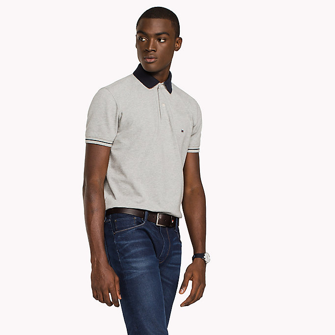 TOMMY HILFIGER Polo classique 1985 standard - BRIGHT WHITE - TOMMY HILFIGER Hommes - image principale
