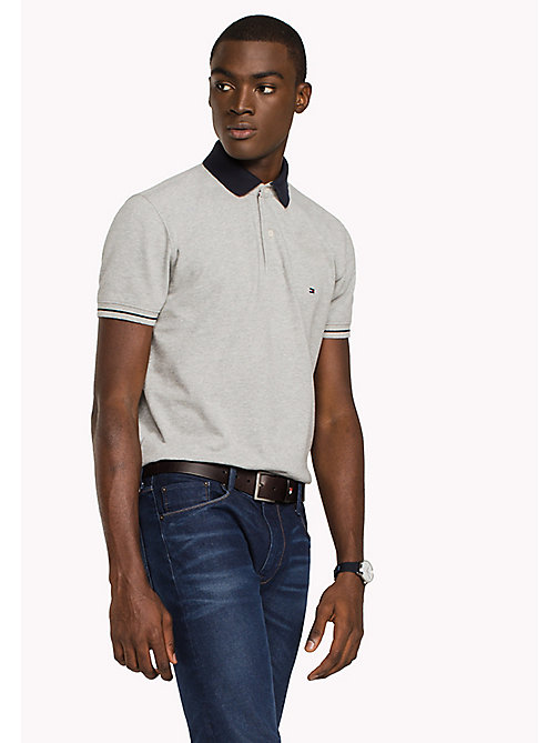 TOMMY HILFIGER 1985 Classic Regular Fit Polo - CLOUD HTR - TOMMY HILFIGER Polo Shirts - main image