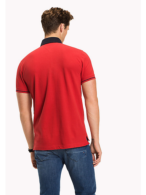 TOMMY HILFIGER 1985 Classic Regular Fit Polo - HAUTE RED - TOMMY HILFIGER Polo Shirts - detail image 1