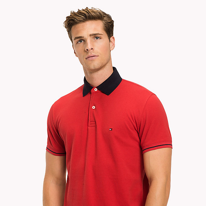 TOMMY HILFIGER Klassisches 1985 Regular Fit Poloshirt - JELLY BEAN - TOMMY HILFIGER Kleidung - main image 2