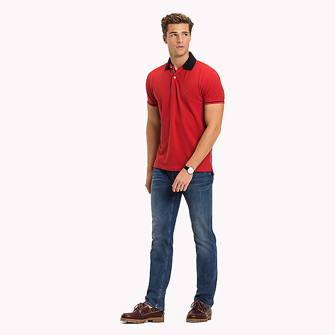 TOMMY HILFIGER Polo classique 1985 standard - JELLY BEAN - TOMMY HILFIGER Hommes - image principale