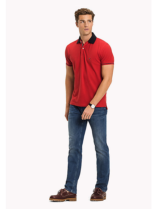 TOMMY HILFIGER 1985 klassieke regular fit polo - HAUTE RED - TOMMY HILFIGER T-Shirts & Polo's - main image
