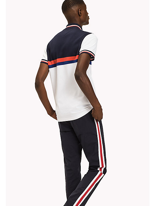 TOMMY HILFIGER Colour-Blocked Slim Fit Polo Shirt - BRIGHT WHITE MULTI - TOMMY HILFIGER T-Shirts & Polos - detail image 1