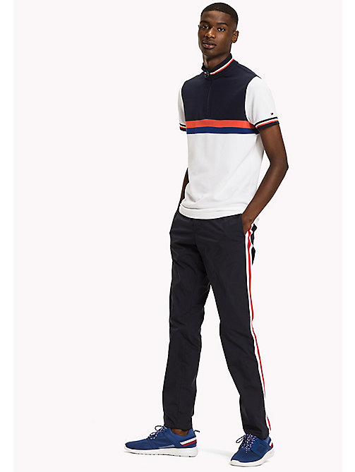TOMMY HILFIGER Colour-Blocked Slim Fit Polo Shirt - BRIGHT WHITE / MULTI - TOMMY HILFIGER NEW IN - main image