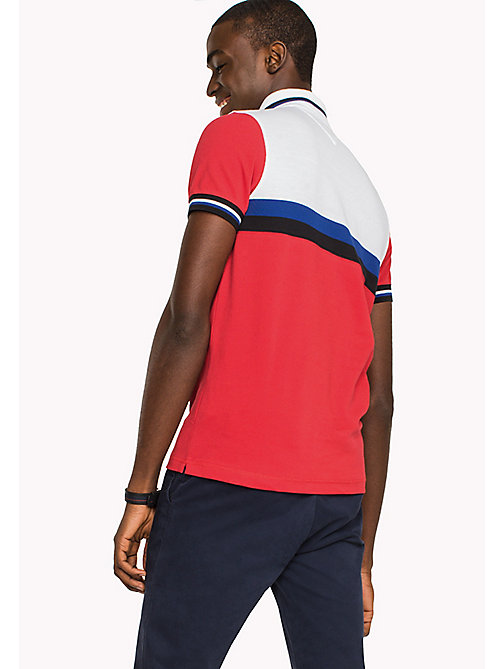 TOMMY HILFIGER Colour-Blocked Slim Fit Polo Shirt - HAUTE RED / MULTI - TOMMY HILFIGER Polo Shirts - detail image 1