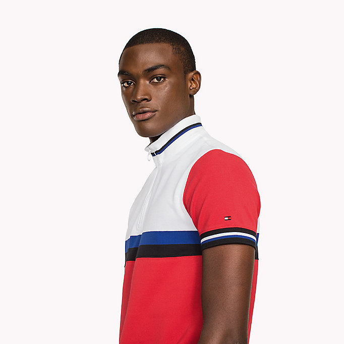 TOMMY HILFIGER Polo slim fit in color block - BRIGHT WHITE / MULTI - TOMMY HILFIGER Uomini - dettaglio immagine 2