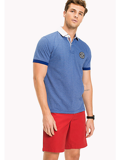 TOMMY HILFIGER Stripe Polo Shirt - SODALITE BLUE - TOMMY HILFIGER Polo Shirts - main image