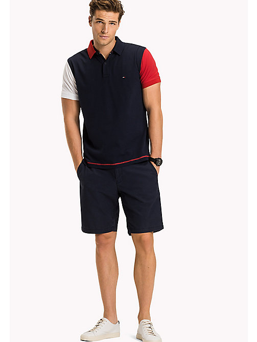 TOMMY HILFIGER Colour-Blocked Regular Fit Polo Shirt - NAVY BLAZER - TOMMY HILFIGER Polo Shirts - main image