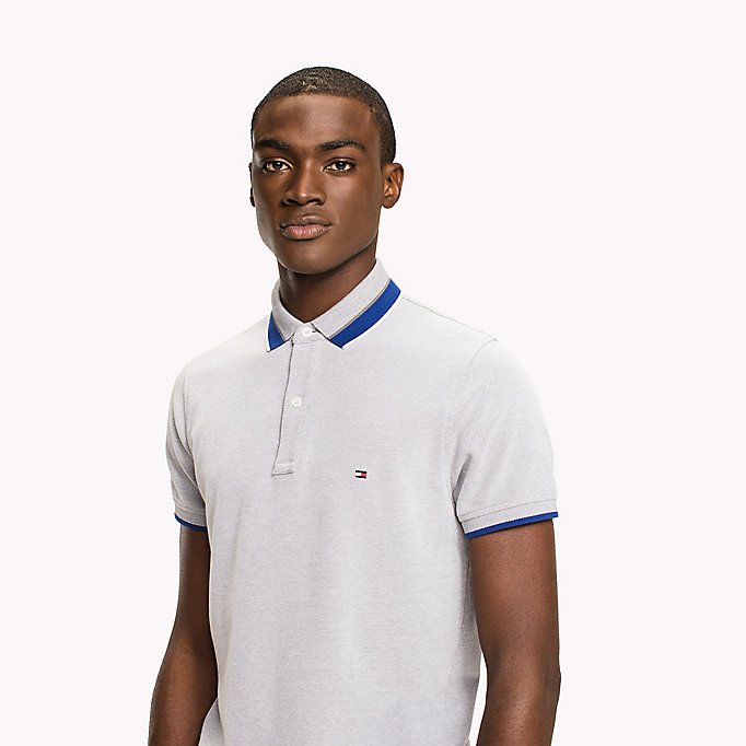 TOMMY HILFIGER Oxford Cotton Slim Fit Polo - CAPRI - TOMMY HILFIGER Clothing - detail image 2