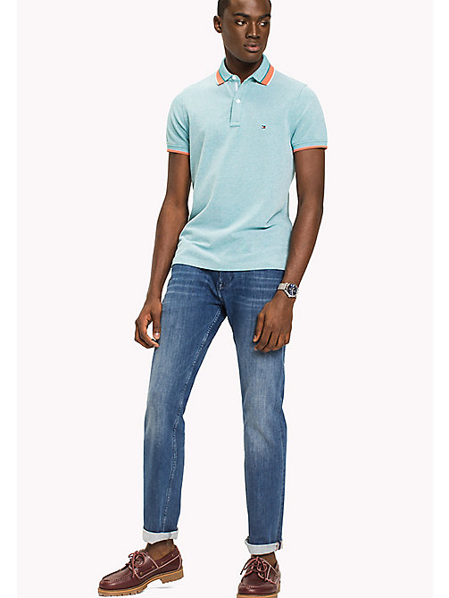 TOMMY HILFIGER Oxford Cotton Slim Fit Polo - FANFARE - TOMMY HILFIGER Poloshirts - main image