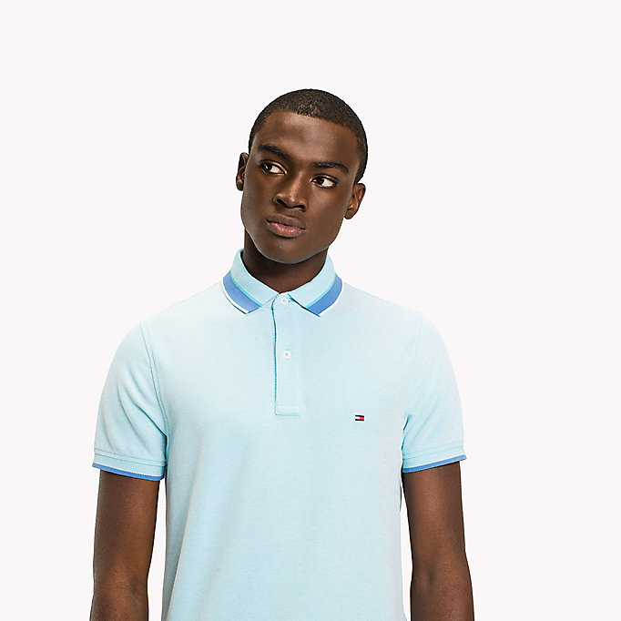 TOMMY HILFIGER Oxford Cotton Slim Fit Polo - REGATTA - TOMMY HILFIGER Clothing - detail image 2