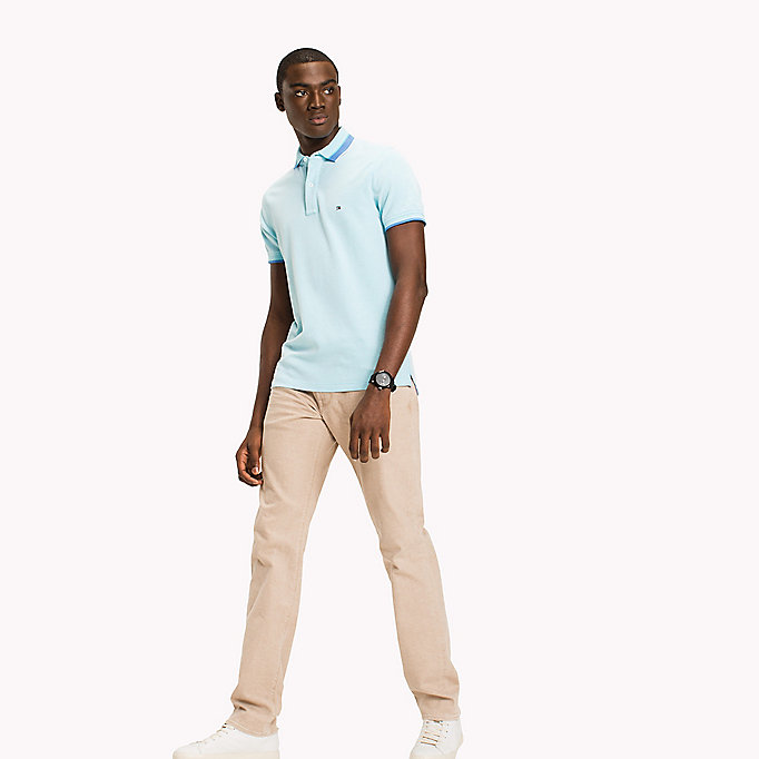 TOMMY HILFIGER Oxford Cotton Slim Fit Polo - REGATTA - TOMMY HILFIGER Clothing - main image