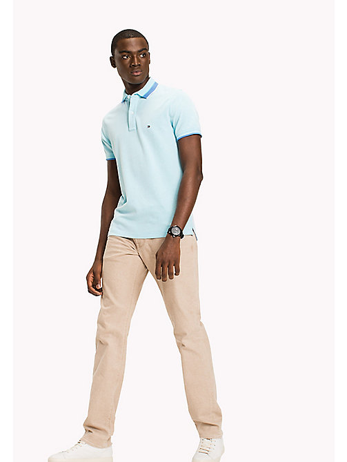 TOMMY HILFIGER Polo en coton Oxford coupe slim - CAPRI - TOMMY HILFIGER Vetements - image principale