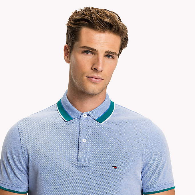 TOMMY HILFIGER Oxford Cotton Slim Fit Polo - HOT CORAL - TOMMY HILFIGER Clothing - detail image 2