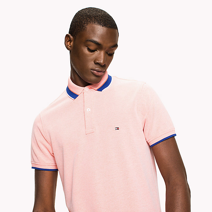 TOMMY HILFIGER Oxford Cotton Slim Fit Polo - FANFARE - TOMMY HILFIGER Clothing - detail image 2