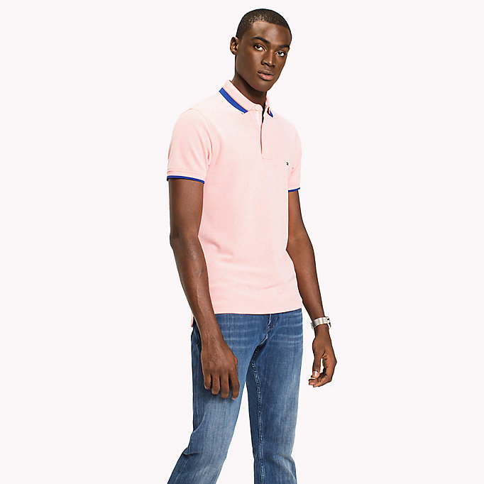 TOMMY HILFIGER Oxford Cotton Slim Fit Polo - FANFARE - TOMMY HILFIGER Clothing - main image