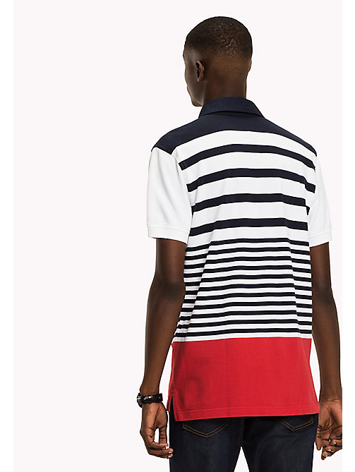 TOMMY HILFIGER Stripe Polo Shirt - NAVY BLAZER/MULTI - TOMMY HILFIGER Polo Shirts - detail image 1