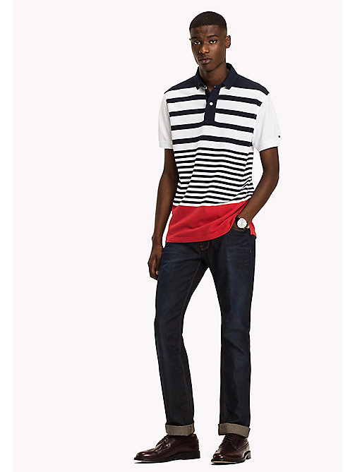 TOMMY HILFIGER Stripe Polo Shirt - NAVY BLAZER/MULTI - TOMMY HILFIGER Polo Shirts - main image