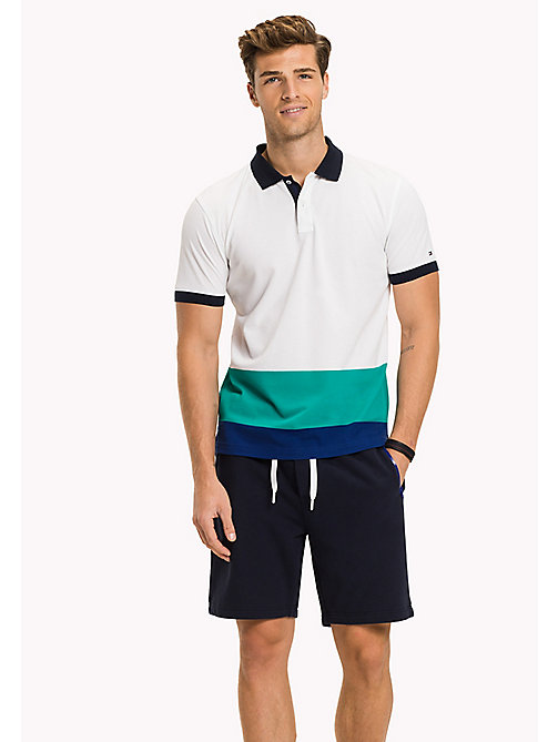 TOMMY HILFIGER Koszulka polo w pasy - BRIGHT WHITE / MULTI - TOMMY HILFIGER NEW IN - main image