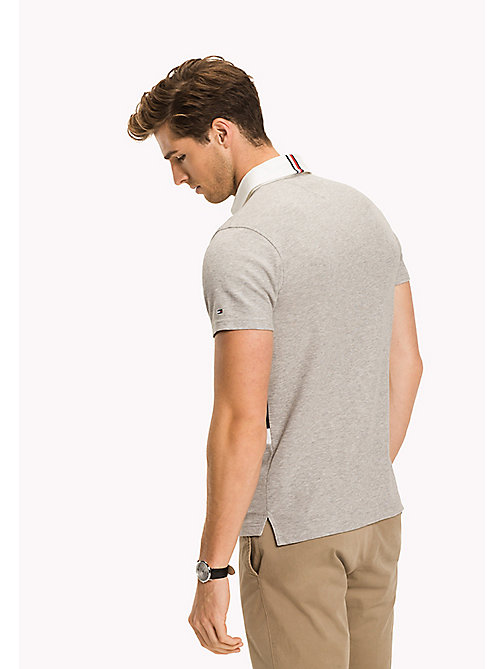 TOMMY HILFIGER Slim Fit Poloshirt in Blockfarben - CLOUD HTR - TOMMY HILFIGER NEW IN - main image 1