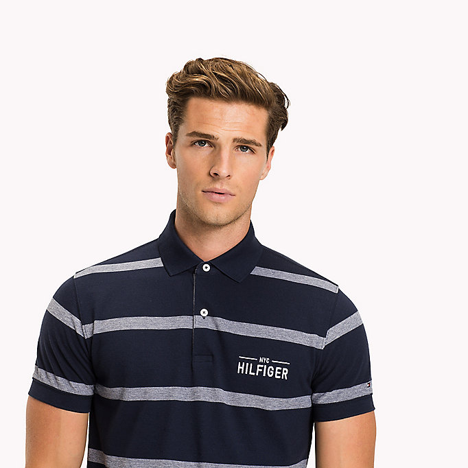 TOMMY HILFIGER Stripe Regular Fit Polo - BRIGHT WHITE - TOMMY HILFIGER Men - detail image 2