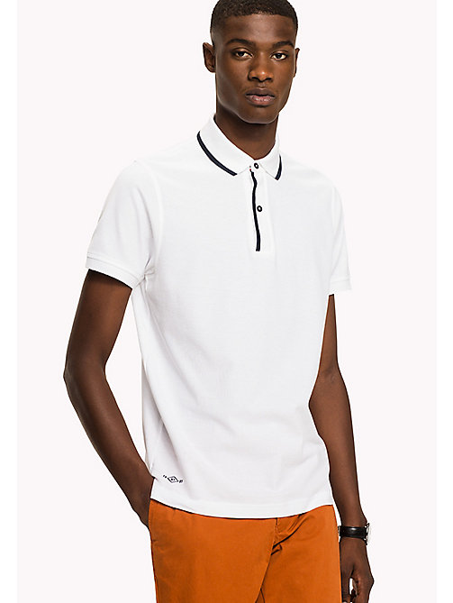 TOMMY HILFIGER Pure Cotton Slim Fit Polo - BRIGHT WHITE - TOMMY HILFIGER Polo Shirts - main image