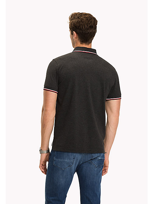 TOMMY HILFIGER Tipped Regular Fit Polo - CHARCOAL HEATHER - TOMMY HILFIGER Polo Shirts - detail image 1