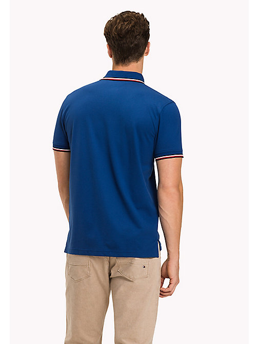 TOMMY HILFIGER Tipped Regular Fit Polo - LIMOGES - TOMMY HILFIGER Polo Shirts - detail image 1