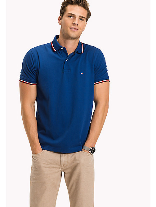 TOMMY HILFIGER Tipped Regular Fit Polo - LIMOGES - TOMMY HILFIGER Polo Shirts - main image