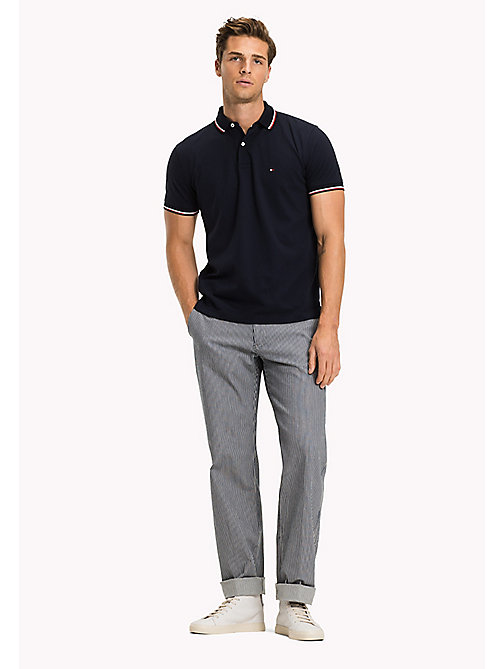 TOMMY HILFIGER Tipped Regular Fit Polo - NAVY BLAZER - TOMMY HILFIGER Polo Shirts - main image