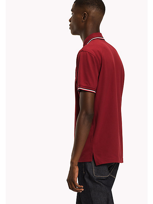 TOMMY HILFIGER Tipped Regular Fit Polo - RHUBARB - TOMMY HILFIGER Polo Shirts - detail image 1