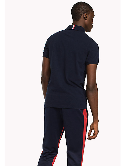 TOMMY HILFIGER Badge Slim Fit Polo Shirt - NAVY BLAZER - TOMMY HILFIGER Polo Shirts - detail image 1