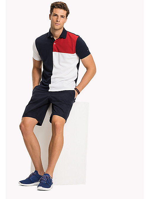 TOMMY HILFIGER Vintage Slim Fit Polo Shirt - NAVY BLAZER - TOMMY HILFIGER NEW IN - main image