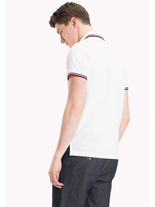 TOMMY HILFIGER Tipped Slim Fit Polo - BRIGHT WHITE - TOMMY HILFIGER Poloshirts - main image 1