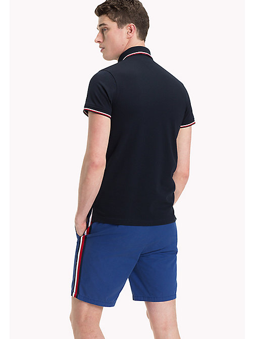 Tipped Slim Fit Polo - SKY CAPTAIN - TOMMY HILFIGER Clothing - detail image 1